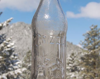 Antique GRIZZLY Bear Beverages bottle - MISSOULA MONTANA - w/great embossed picture of a Grizzly Bear