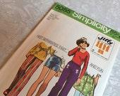 Simplicity Pattern 5055 1972 Hot Separates Size 12 Girls Waist 25.5 Hip 32