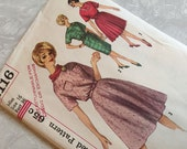 Simplicity Pattern 4116 One Piece Dress With Three Skirts 16 Bust 36 Uncut 1960s