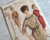 Simplicity Pattern 4070 One Piece Dress Size 16 Bust 36 Uncut 1960s