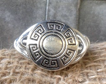 Stunning Silver Madallian Wire Wrapped Ring