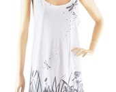 Dragonfly Fight Meadow Flower shirt women tank top sleeveless size M