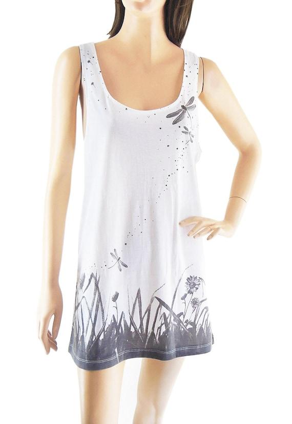 Dragonfly Fight Meadow Flower shirt Graphic Tank Workout Tank Fashion Tank women tank top sleeveless size M
