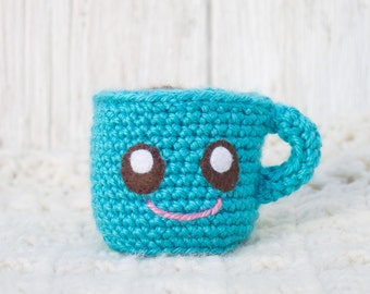 Plush Coffee Cup - Choose Your Colors - Crochet Coffee Cup