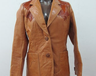 SALE! 1970s Eel Skin and Leather Jacket by Pioneer Wear's Golden Collection