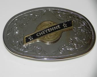 Cheyenne Belt Buckle Rockmount Ranch Wear Trendy Fashion Hunting Belt Buckle