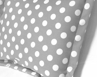 Nursery Decor Pillow Baby Modern Cover Sham Throw Decorative Cases Gender Neutral Crib Bedding Playroom Accent Gray Dots Shower Gift