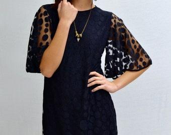 SALE Polka Dress in Black
