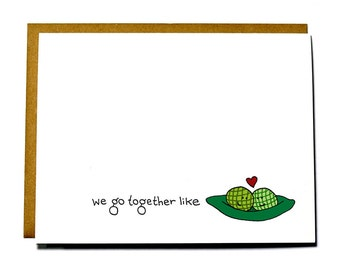 Valentines Day card - Two peas in a pod card