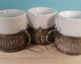Porcelana Veracruz Style Espresso Cups - Set of 3 - Free Shipping