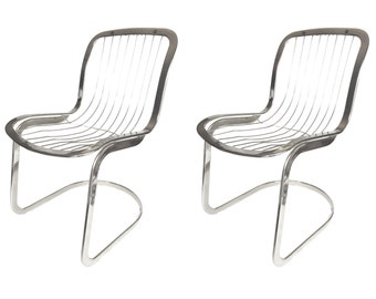 1970's Cidue Italian Chrome Chairs