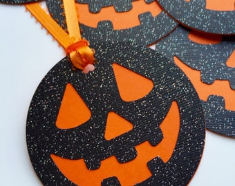 Halloween PUMPKIN TAGS. READY to ship