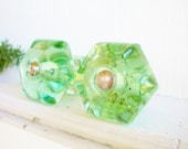 Large Green Depression Glass Drawer Knobs/Vintage Green Glass Knob /Depression Glass Drawer Pulls /Farmhouse/Craft Projects