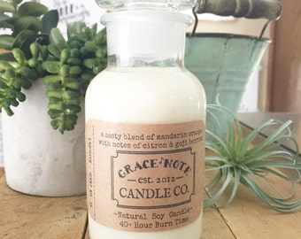 Wholesale - Soy Candle - Apothecary Jar Candle, Soy Wax Candle WHOLESALE LISTING for Your Brick & Mortar Shop - Wholesale Candles