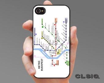 Budapest Hungary Metro Map Case for iPhone 6/6S, 6+/6S+, 5/5S, 5C, 4/4S, iPod Gen 5, Samsung Galaxy S6, Galaxy S5, Galaxy S4, Galaxy S3