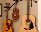 CUSTOM ORDER Branch shaped guitar holde W/O  LEAVES r, guitar stand, musical instrument rack.