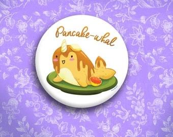 Pancake-whal Button