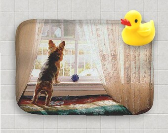 Bath Mat Yorkie Yorkshire Terrier