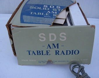 Vintage Solid State AM Table Radio New Old Stock