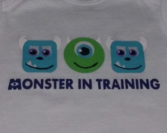 Monsters Inc - Mike Wazowski & Sully Faces - Bodysuit or T-Shirt