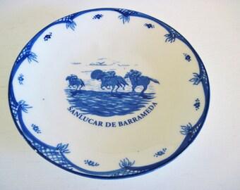 Spanish Equestrian Commemorative Plates, Sanlucar De Barrameda, Set of 4 Spanish Horse Fair, Jarez Feria