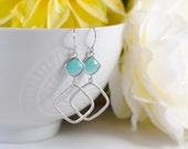 The Sophie Earrings - Mint/Silver