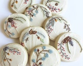 Winter Foliage / Winter Berries / Winter Sugar Cookies with Buttercream Frosting