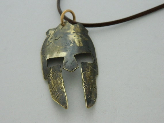 custom handcrafted brass spartan unisex necklace by