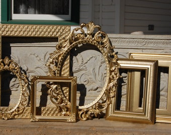 Gold Shabby Chic PICTURE FRAMES   /   Ornate Frames /   Vintage Picture Frames