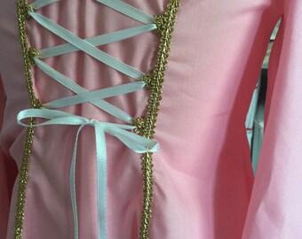 Gold trimmed princess dress