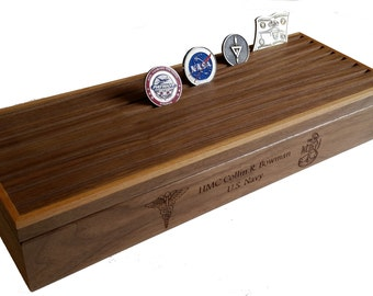 Personalized 60 Challenge Coin Display Box