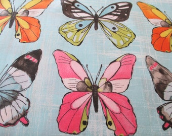 Quilting Weight Cotton Fabric Flutter Fly by Michael Miller in multi colors 1 yard