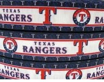 "7/8"" Texas Rangers Ribbon - 3 yards"