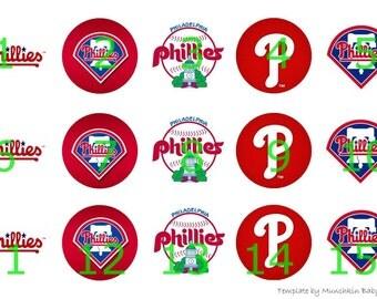 """1"""" Bottle Cap Images-Phillies"""
