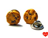 Chocolate Chip Cookie Lapel Pins