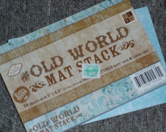 The Old World Mat Stack - 4.5 x 6.5 - 72 Sheets - by DCWV ~> ON SALE!!!