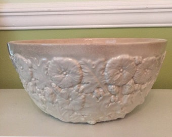 SPODE WHITE BOWL Salad, Made in England, Hollywood Regency, Shabby Chic, Cottage Chic at Ageless Alchemy