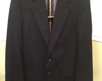 BLACK CASHMERE MENS Blazer Sports Jacket Sports Coat Peterborough Row at Bloomingdales Size Large at Ageless Alchemy