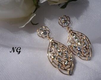 Bronze Rhinestone Earring