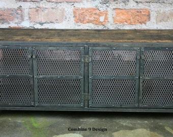 Media Console/Buffet/Credenza - Vintage Industrial, Urban/modern design. Reclaimed wood top, minimalist/retro  steel. Custom Cofigurations