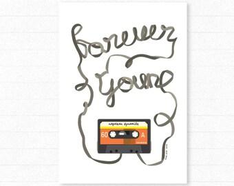 CASETTE | Forever Young Poster : Napoleon Dynamite Illustration Retro Art Wall Decor Print
