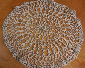 Large round Ecru tatted Doily - Gorgeous pattern.