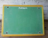 Vintage Playskool Blackboard Magnetic Spelling Board Pegboard Triangular Learning Center Collectible Playskool