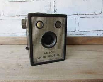 Box Camera Vintage Ansco Shur-Shot Jr Camera 120 Film