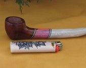 Small burl and antler pipe