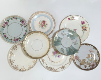 China Plates Mismatched / Vintage China Plates for Plate Wall Hanging, or Serving at Showers, Tea Parties, Luncheons, etc.