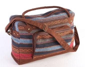 Navajo Native American Lightweight Baggage, Navajo Travel Bag, Weekender Bag, Overnight Bag, Duffel Bag,