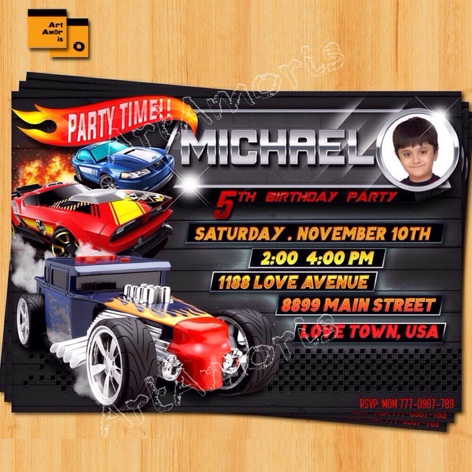 boy racing car birthday invitation racing car invitation 🔎zoom