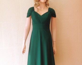Dark Green Bridesmaid Dress. Party Dress.
