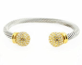 "Gold ""Nia"" Bangle Bracelet"